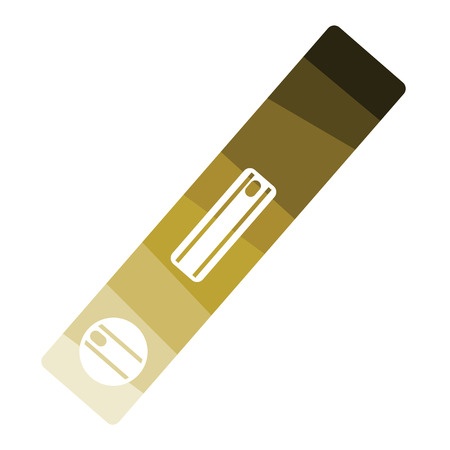 Icon of construction level . Flat color design. Vector illustration. Stock Illustratie