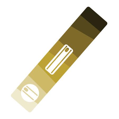 Symbol der Baustufe. Flaches Farbdesign. Vektorillustration.