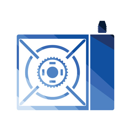 Camping gas burner stove icon. Flat color design. Vector illustration.