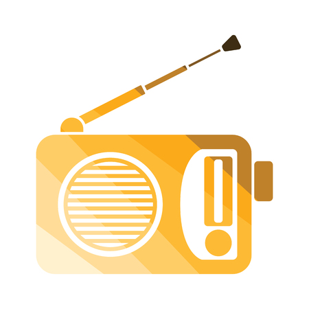 Audio system speakers icon. Flat color design. Vector illustration.