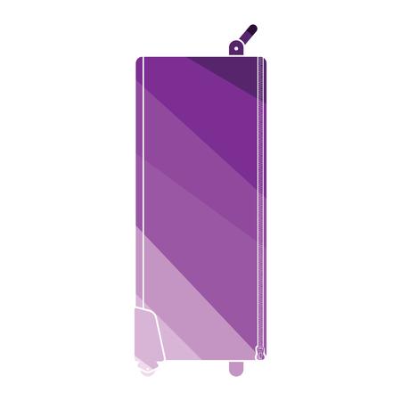 Icon of studio photo light bag. Flat color design. Vector illustration.