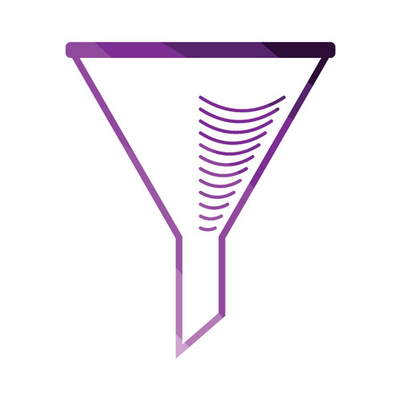 Icon of chemistry filler cone. Flat color design. Vector illustration.