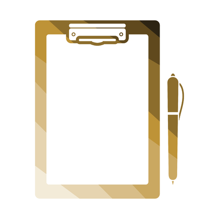 Tablet and pen icon. Flat color design. Vector illustration.