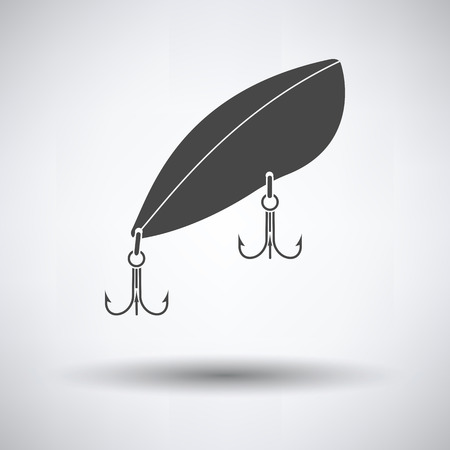 Icon of Fishing spoon on gray background, round shadow. Vector illustration.