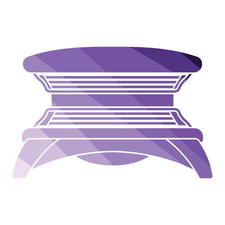 Icono de solarium. Diseño de color plano. Ilustración vectorial