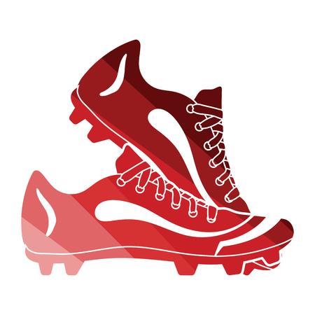 Baseball boot icon. Flat color design. Vector illustration.