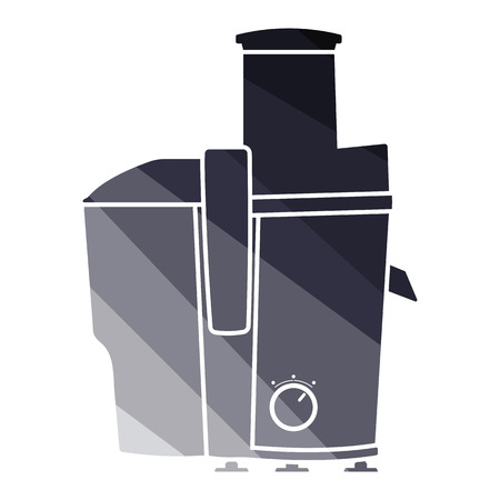 Juicer machine icon. Flat color design. Vector illustration.