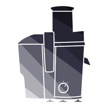 Juicer machine-pictogram. Egale kleur ontwerp. Vector illustratie.