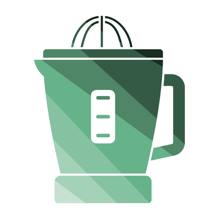 Citrus juicer machine icon. Flat color design. Vector illustration.