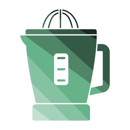 Citrus juicer machine icon. Flat color design. Vector illustration. Illustration