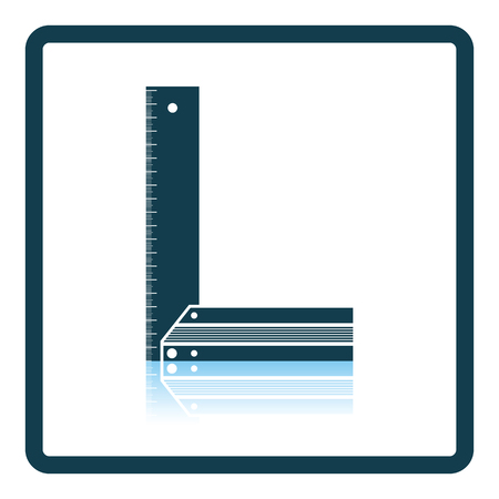 Setsquare icon. Shadow reflection design. Vector illustration.