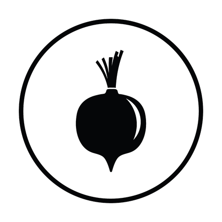 Beetroot  icon. Thin circle design. Vector illustration. Illusztráció