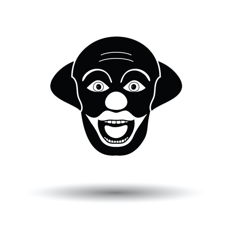 Party clown face icon. White background with shadow design. Vector illustration. Illustration