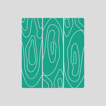 Icon of parquet plank pattern. Gray background with green. Vector illustration.