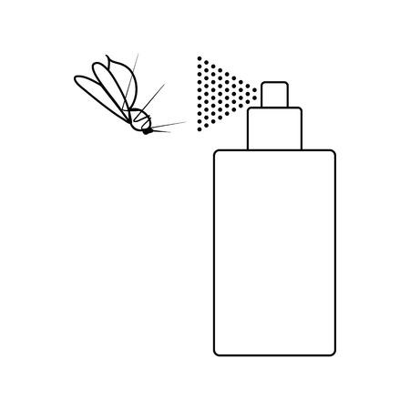 Icon of mosquito spray. Thin line design. Vector illustration.