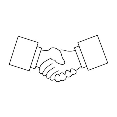 Icon of Meeting businessmen. Thin line design. Vector illustration.