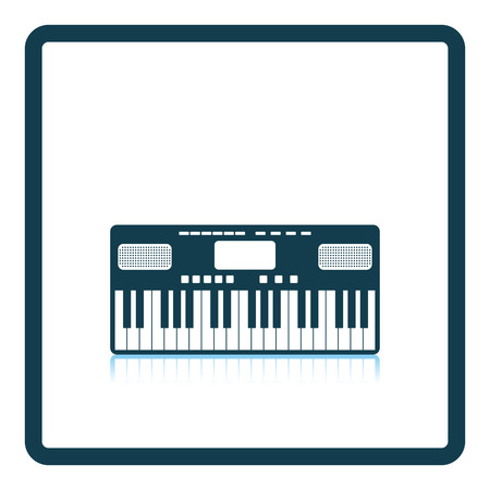Music synthesizer icon. Shadow reflection design. Vector illustration. Ilustração