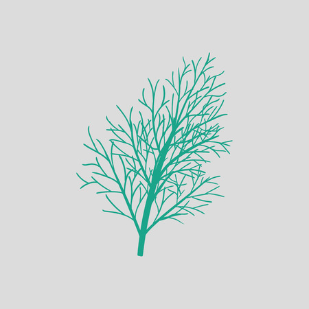 Dill icon. Gray background with green. Vector illustration.