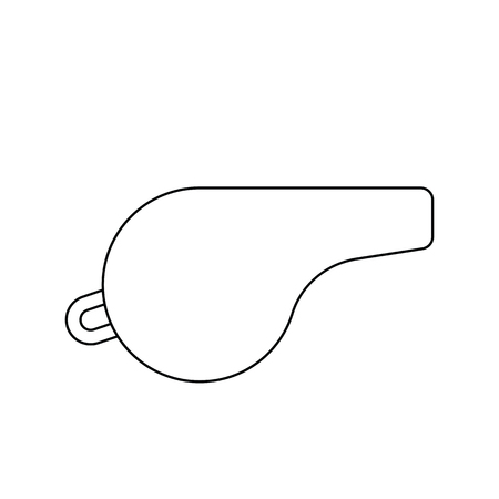 Whistle icon. Thin line design. Vector illustration.  イラスト・ベクター素材