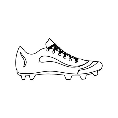 Baseball boot icon. Thin line design. Vector illustration.
