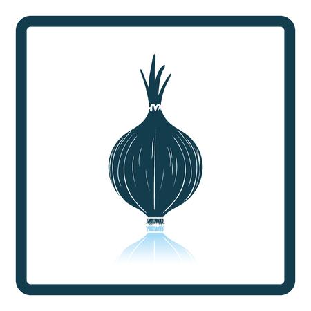 Onion icon. Shadow reflection design.