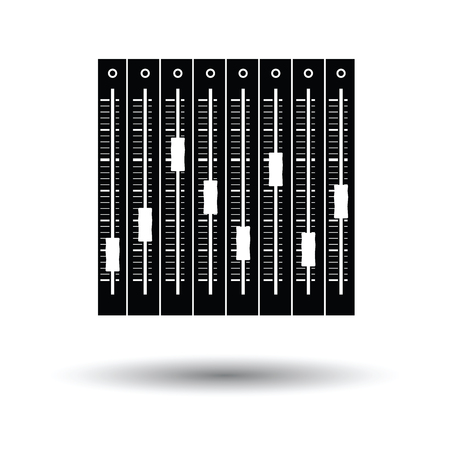 Music equalizer icon. White background with shadow design.