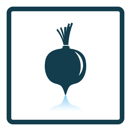 Beetroot icon. Shadow reflection design.