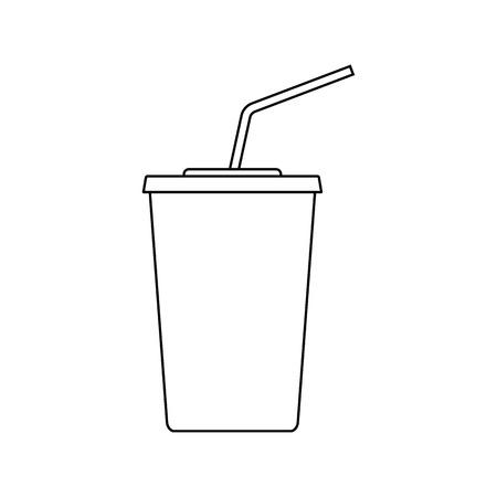 Cinema soda drink icon. Thin line design. Vector illustration.