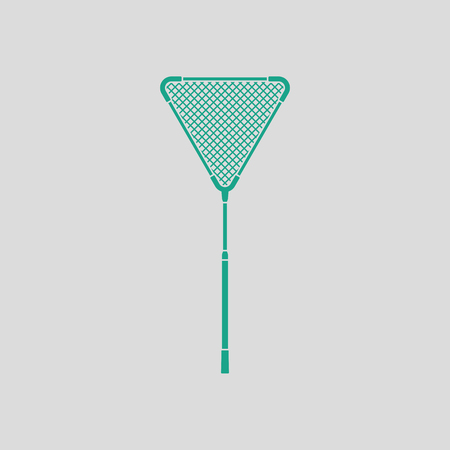 Icon of Fishing net . Gray background with green. Vector illustration.