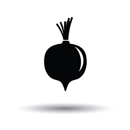 Beetroot  icon. White background with shadow design. Vector illustration. Stock fotó - 107304728