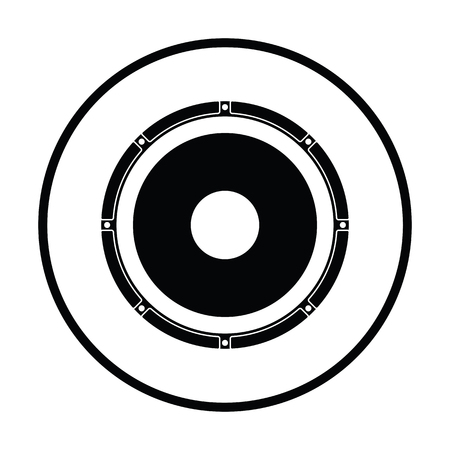 Loudspeaker  icon. Thin circle design. Vector illustration. 向量圖像