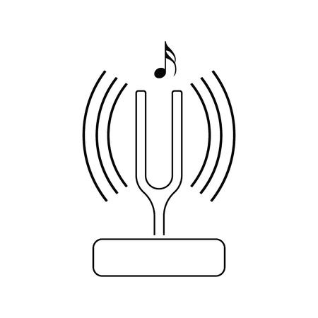 Tuning fork icon. 일러스트