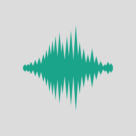 Music equalizer icon. Gray background with green. Vector illustration.