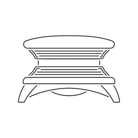 Icon of Solarium. Thin line design. Vector illustration.