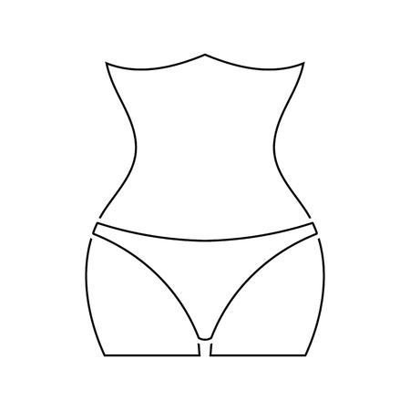 Icon of Slim waist . Thin line design. Vector illustration.