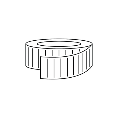 Icon of Measure tape . Thin line design. Vector illustration.