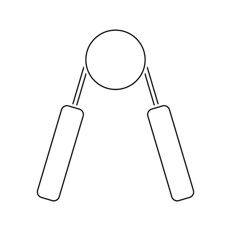 Icon of Hands expander. Thin line design. Vector illustration. Banque d'images - 110455927