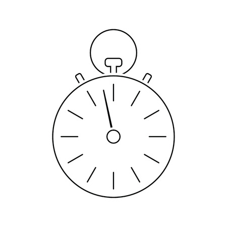 Stopwatch icon. Thin line design. Vector illustration.