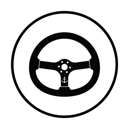 Icon of  steering wheel . Thin circle design. Vector illustration. Illustration