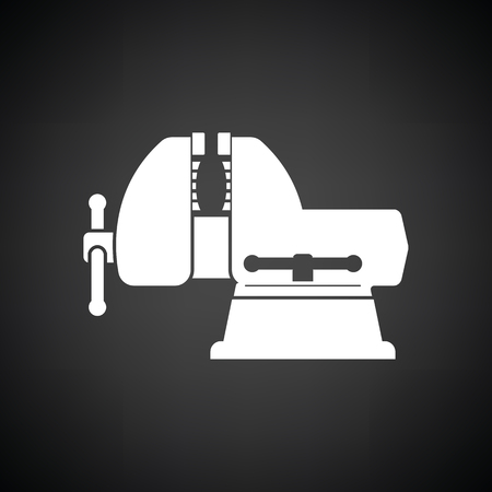 Vise icon. Black background with white. Vector illustration.