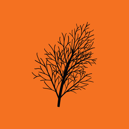 Dill icon. Orange background with black. Vector illustration. Illustration