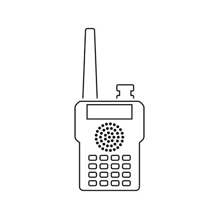 Portable radio icon. Thin line design. Vector illustration.