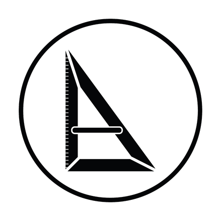 Triangle icon. Thin circle design. Vector illustration.  イラスト・ベクター素材
