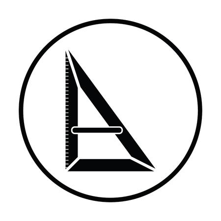 Triangle icon. Thin circle design. Vector illustration. Illustration