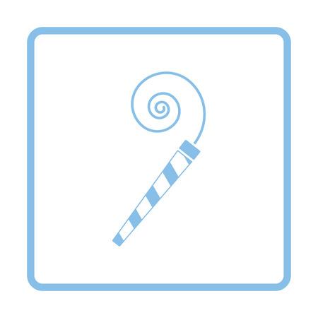 Party whistle icon. Blue frame design. Vector illustration. Illustration