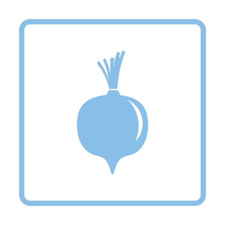 Beetroot  icon. Blue frame design. Vector illustration. Stock fotó - 107783992