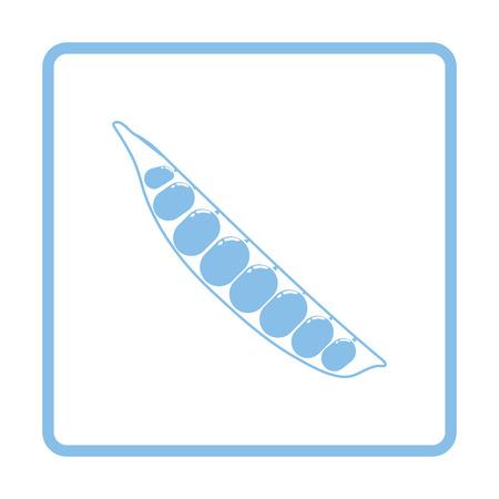 Pea icon. Blue frame design. Vector illustration. Illusztráció