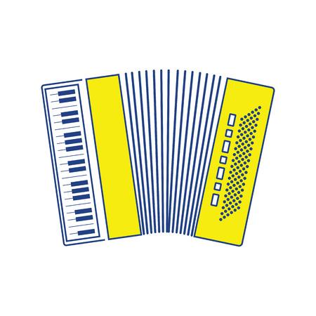 Icono de acordeón. Diseño de línea fina. Ilustración de vector.
