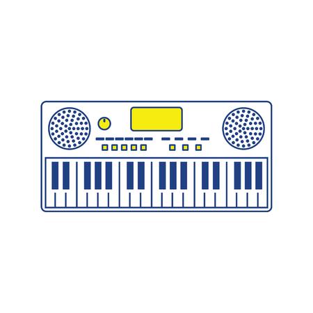 Icône de synthétiseur de musique. Conception de lignes fines. Illustration vectorielle. Vecteurs