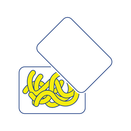 Icon of worm container. Thin line design. Vector illustration.